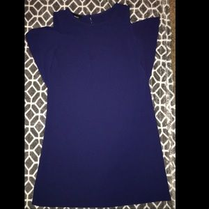 Very beautiful navy blue off the shoulder dress!